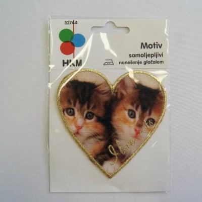 """APLIKACIJA """"I LOVE CATS"""" (ZAKRPA) 32744 14434"""